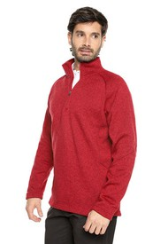 Buso Rojo Preppy Ml Media Cremallera