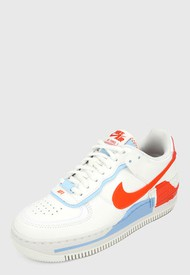 Tenis Lifestyle Blanco-Rojo-Azul Nike Air Force 1 Shadow AF1