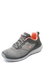 Tenis Training Gris-Coral-Blanco Skechers Quick Path