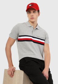 Polo Gris-Rojo-Azul Tommy Hilfiger