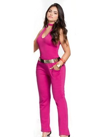 Enterizo Largo Adulto Femenino Fucsia Marketing Personal