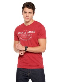 Camiseta Rojo-Blanco Jack & Jones