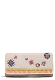 Billetera Beige-Multicolor Desigual