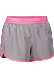 Short Under Armour Perfect Pace-Plateado/Fucsia