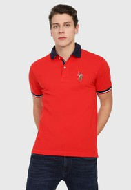 Polo Rojo-Azul-Blanco Us Polo Assn