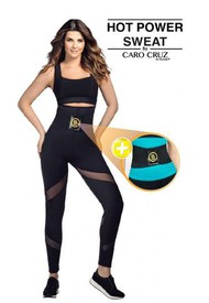 LEGGINGS FAJA HOT POWER SWEAT + CINTURILLA INSTANT TRAINING HOT SHAPERS BY CARO CRUZ