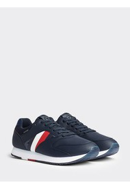 Tenis Low Cut Sneakers Corporate Leather Runner  Azul Tommy Hilfiger