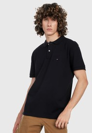 Polo Negro Tommy Hilfiger