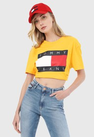 Camiseta Mostaza-Multicolor Tommy Jeans