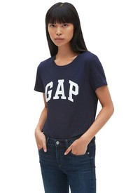 Camiseta Azul Navy-Blanco GAP